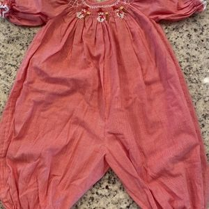 Other - Romper with smocked smowmen
